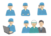 建設工事関係 男性作業員 10447000317| 写真素材・ストックフォト・画像・イラスト素材|アマナイメージズ