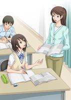 講習を受ける女子学生 10456000120| 写真素材・ストックフォト・画像・イラスト素材|アマナイメージズ