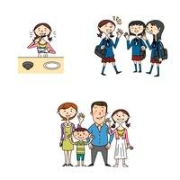中高生女子の健康と家族と学校生活 10464000015  写真素材・ストックフォト・画像・イラスト素材 アマナイメージズ
