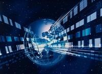 格子状地球に伝達集中 CG                                     10596000107| 写真素材・ストックフォト・画像・イラスト素材|アマナイメージズ