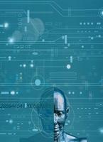 ロボットと回路のイメージ(青) CG                           10596000133| 写真素材・ストックフォト・画像・イラスト素材|アマナイメージズ