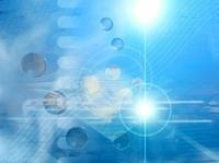 光と線形と球状(水色) CG                                     10596000235| 写真素材・ストックフォト・画像・イラスト素材|アマナイメージズ
