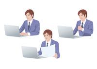 コンピューターで仕事をする男性 10688000001| 写真素材・ストックフォト・画像・イラスト素材|アマナイメージズ