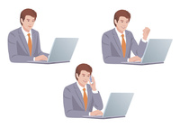 コンピューターで仕事をする男性 10688000002| 写真素材・ストックフォト・画像・イラスト素材|アマナイメージズ