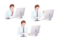 コンピューターで仕事をする男性 10688000003| 写真素材・ストックフォト・画像・イラスト素材|アマナイメージズ