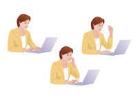 コンピューターで仕事をする女性 10688000004| 写真素材・ストックフォト・画像・イラスト素材|アマナイメージズ