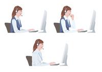 コンピューターで仕事をする女性 10688000006| 写真素材・ストックフォト・画像・イラスト素材|アマナイメージズ