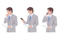 スマートフォンで仕事をする男性 10688000008  写真素材・ストックフォト・画像・イラスト素材 アマナイメージズ