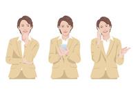 スマートフォンで仕事をする女性 10688000010  写真素材・ストックフォト・画像・イラスト素材 アマナイメージズ