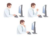 コンピューターで仕事をする男性 10688000011| 写真素材・ストックフォト・画像・イラスト素材|アマナイメージズ