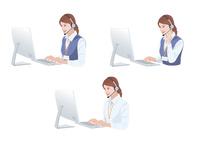 コンピューターで仕事をする女性 10688000014| 写真素材・ストックフォト・画像・イラスト素材|アマナイメージズ