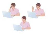コンピューターで仕事をする男性 10688000015| 写真素材・ストックフォト・画像・イラスト素材|アマナイメージズ