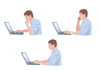 コンピューターで仕事をする男性 10688000018| 写真素材・ストックフォト・画像・イラスト素材|アマナイメージズ