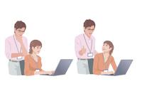 コンピューターで仕事をする男性と女性 10688000020| 写真素材・ストックフォト・画像・イラスト素材|アマナイメージズ