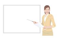 ホワイトボードの前でプレゼンテーションをする女性 10688000022| 写真素材・ストックフォト・画像・イラスト素材|アマナイメージズ