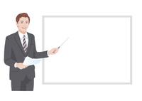 ホワイトボードの前でプレゼンテーションをする男性 10688000025| 写真素材・ストックフォト・画像・イラスト素材|アマナイメージズ