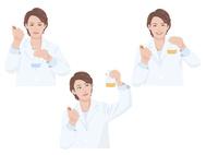 試験管とビーカーを持った白衣の女性研究員 10688000028| 写真素材・ストックフォト・画像・イラスト素材|アマナイメージズ