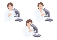 顕微鏡を見る白衣の女性研究員 10688000030| 写真素材・ストックフォト・画像・イラスト素材|アマナイメージズ
