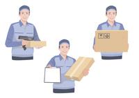 段ボールと伝票を持って配送作業をする男性 10688000033| 写真素材・ストックフォト・画像・イラスト素材|アマナイメージズ
