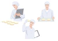 食品工場で働く作業着姿の女性 10688000034| 写真素材・ストックフォト・画像・イラスト素材|アマナイメージズ