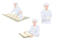 食品工場で働く作業着姿の女性 10688000035| 写真素材・ストックフォト・画像・イラスト素材|アマナイメージズ