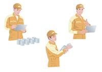 工場で働く作業着姿の男性 10688000036| 写真素材・ストックフォト・画像・イラスト素材|アマナイメージズ
