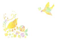 花と鳥 10690000004| 写真素材・ストックフォト・画像・イラスト素材|アマナイメージズ