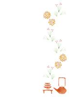 お正月小物のパターン 10690000040| 写真素材・ストックフォト・画像・イラスト素材|アマナイメージズ