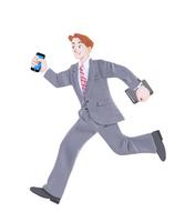 走るビジネスマン 10757001072| 写真素材・ストックフォト・画像・イラスト素材|アマナイメージズ