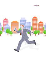 ビジネスマンとビル群 10757001073| 写真素材・ストックフォト・画像・イラスト素材|アマナイメージズ