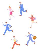 走るビジネスマンとOL 10757001123| 写真素材・ストックフォト・画像・イラスト素材|アマナイメージズ