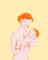 母親に抱かれる赤ちゃん 10757001172| 写真素材・ストックフォト・画像・イラスト素材|アマナイメージズ