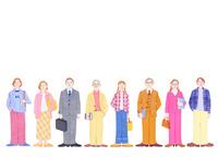 多世代男女 10757001204  写真素材・ストックフォト・画像・イラスト素材 アマナイメージズ