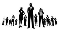 シルエット人物のビジネスイメージ 10768000040| 写真素材・ストックフォト・画像・イラスト素材|アマナイメージズ