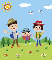 ハイキングを楽しむ家族 10928000011| 写真素材・ストックフォト・画像・イラスト素材|アマナイメージズ