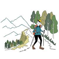 景色を楽しみながらのんびりハイキング 10928000056| 写真素材・ストックフォト・画像・イラスト素材|アマナイメージズ