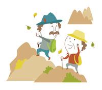 元気に登山をするシニア夫婦 10928000081| 写真素材・ストックフォト・画像・イラスト素材|アマナイメージズ