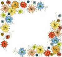 イエロー&ブルー&ピンク系フラワーA 10928000102| 写真素材・ストックフォト・画像・イラスト素材|アマナイメージズ
