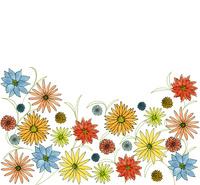 イエロー&ブルー&ピンク系フラワーB 10928000103| 写真素材・ストックフォト・画像・イラスト素材|アマナイメージズ
