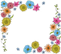 イエロー&ブルー&ピンク系フラワーC 10928000104| 写真素材・ストックフォト・画像・イラスト素材|アマナイメージズ