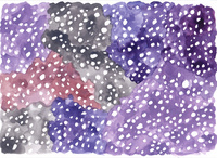 水彩のドットパターン 黒 10928000199| 写真素材・ストックフォト・画像・イラスト素材|アマナイメージズ