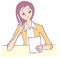 携帯電話で話す女性 イラスト 11002026307  写真素材・ストックフォト・画像・イラスト素材 アマナイメージズ