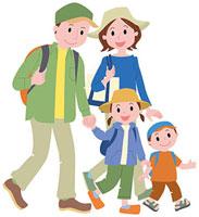 ハイキングをする家族 11002054798| 写真素材・ストックフォト・画像・イラスト素材|アマナイメージズ