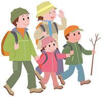 ハイキングをする家族 11002054799| 写真素材・ストックフォト・画像・イラスト素材|アマナイメージズ