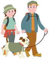 ハイキングをする中高年夫婦 11002054895| 写真素材・ストックフォト・画像・イラスト素材|アマナイメージズ