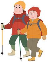 ハイキングをする中高年夫婦 11002054896| 写真素材・ストックフォト・画像・イラスト素材|アマナイメージズ