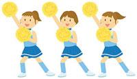 チアダンスを踊る女子中学生 11002055097  写真素材・ストックフォト・画像・イラスト素材 アマナイメージズ