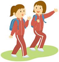 遠足で散策をする女子中学生 11002055101  写真素材・ストックフォト・画像・イラスト素材 アマナイメージズ