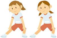 体操をする女子中学生 11002055106  写真素材・ストックフォト・画像・イラスト素材 アマナイメージズ