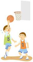 バスケットボールをする男子中学生 11002055109  写真素材・ストックフォト・画像・イラスト素材 アマナイメージズ
